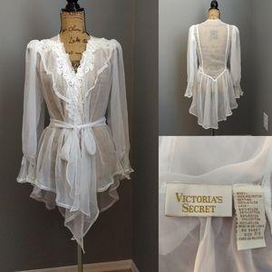 Vintage Victoria's Secret Gold Label Beaded Robe